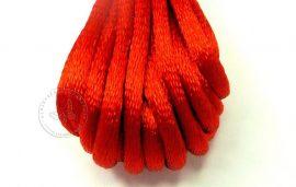 Piros - szatén zsinór 2mm vastag, 1m darab