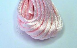 Rózsaszín - szatén zsinór 2mm vastag, 1m darab