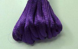 Sötét lila - szatén zsinór 2mm vastag, 1m darab