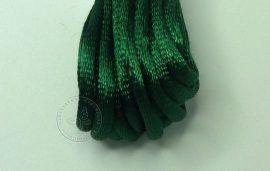 Sötét zöld - szatén zsinór 2mm vastag, 1m darab
