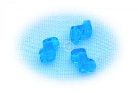 Zorro kétlyukú gyöngy 5x6mm - azúr kék